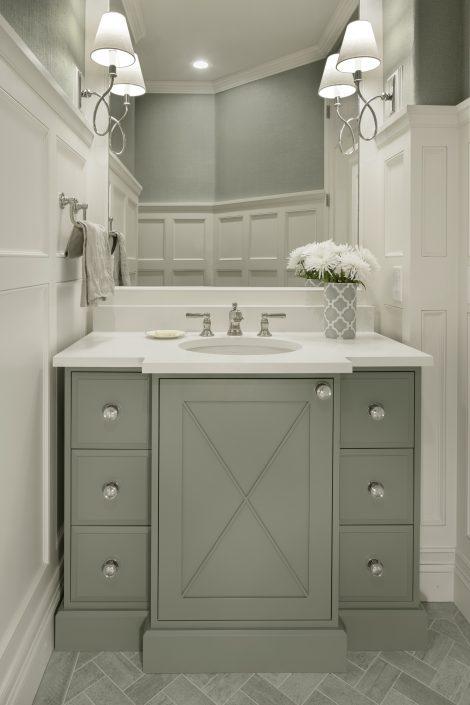 Small Bathroom Vanity by Factor Design Build in Denver CO