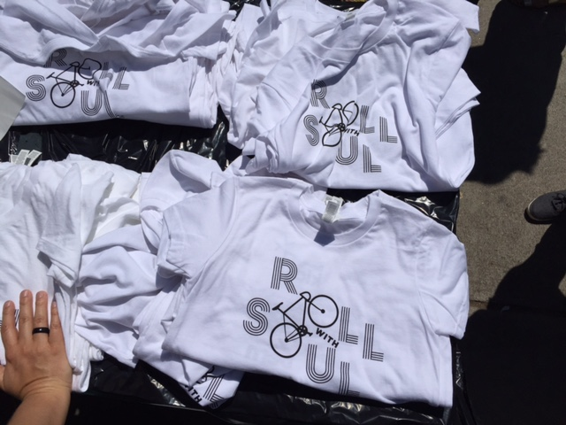 roll with soul white t-shirts
