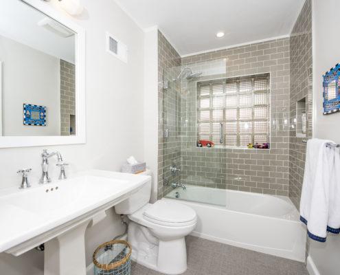bathroom remodel finished