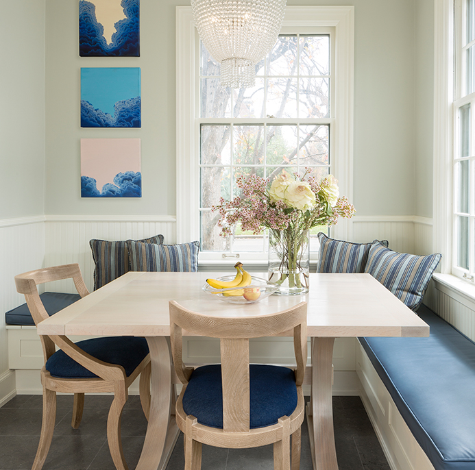 built-in breakfast nook with bench seating