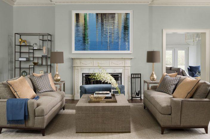 Historic restoration living room