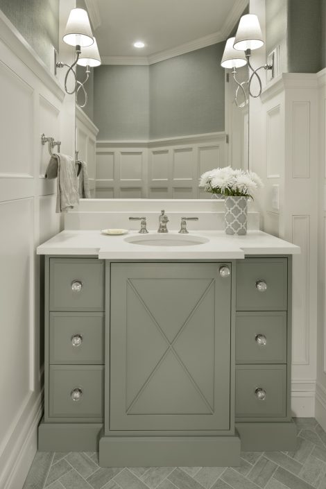 Small Bathroom Vanity by Factor Design Build in Denver CO
