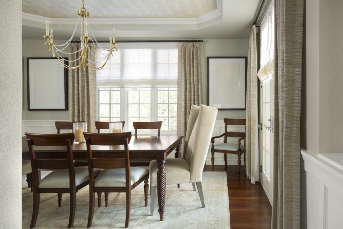 Formal Dining Room Design by Factor Design Build in Denver CO