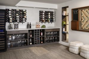 basement remodel in denver with wine cellar