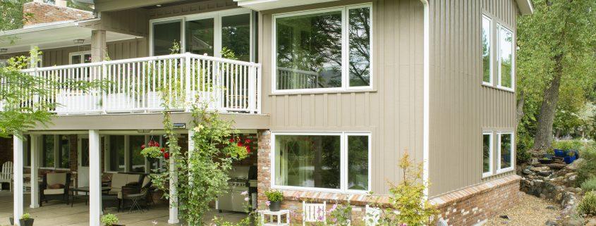 Backyard exterior photo of Golden Colorado remodel