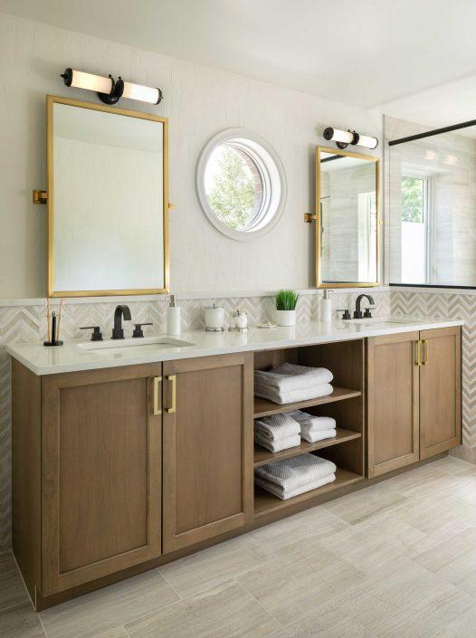 vanity in remodeled bathroom