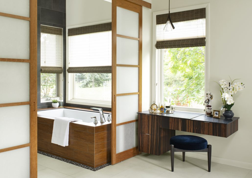 Golden Japanese Contemporary bathroom