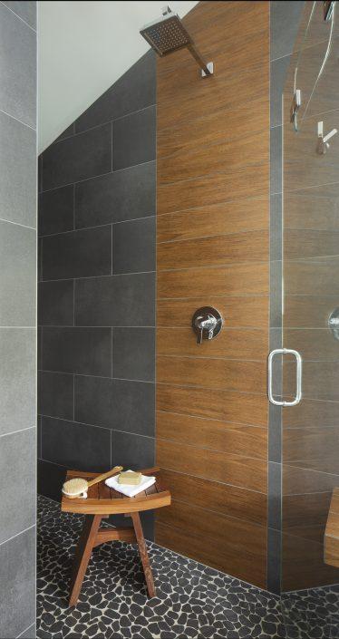 Golden Japanese Contemporary shower