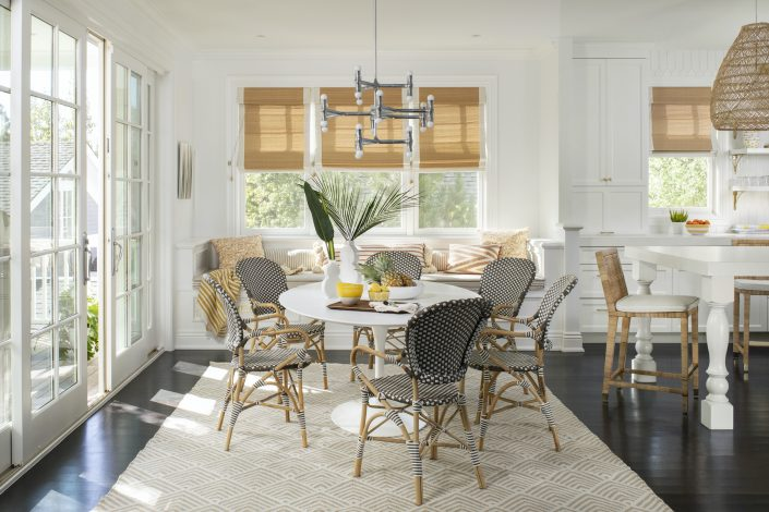 Breakfast table in remodeled kitchen