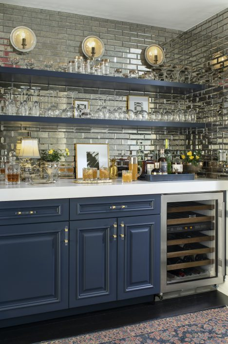 Blue home bar